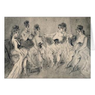 Mädchen in einem Bordello Karte