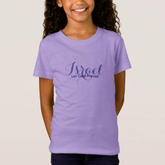 Mädchen-Israel Spitze-Gelassener Gott herrschen T-Shirt