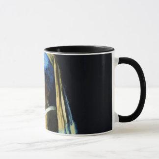 Mädchen Jan.s Vermeer mit einer Tasse