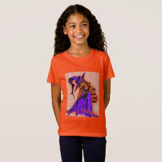 Mädchen-Jersey-Orange T-Shirt