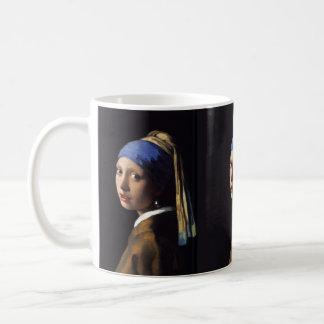 Mädchen Johannes Vermeers mit einem Perlen-Ohrring Kaffeetasse