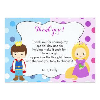 Mädchen-Jungen-Geburtstag Prinz-Prinzessin Thank 12,7 X 17,8 Cm Einladungskarte