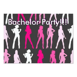 MÄDCHEN, Junggeselle-Party!!! , 12,7 X 17,8 Cm Einladungskarte