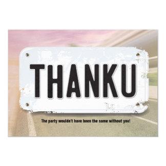 Mädchen-Kfz-Kennzeichen danken Ihnen Karten 12,7 X 17,8 Cm Einladungskarte