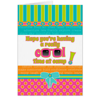 Mädchen-Kinder Lager-an den wirklich coolen Grußkarte