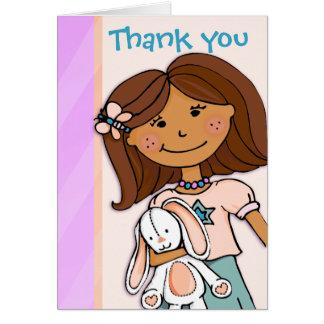 Mädchen-Kindergeburtstag-Party danken Ihnen zu Karte
