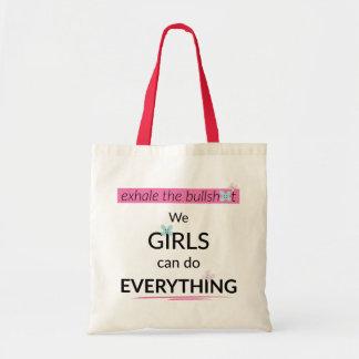 Mädchen können alles tun Taschen-Tasche Budget Stoffbeutel