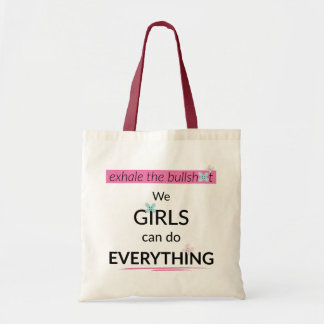 Mädchen können alles tun Taschen-Tasche Tragetasche