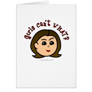 Mädchen können nicht, WAS? Logo-Scheinwerfer Karte
