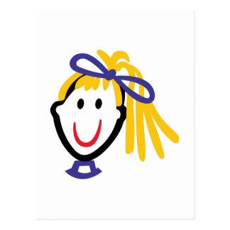 Mädchen-Kopf Postkarte