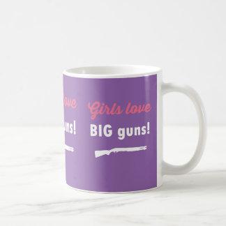 Mädchen-Liebe-GROSSE Gewehre Kaffeetasse