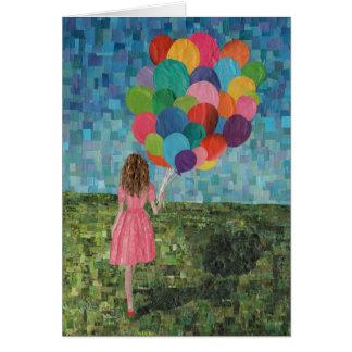 Mädchen mit Ballonen Karte