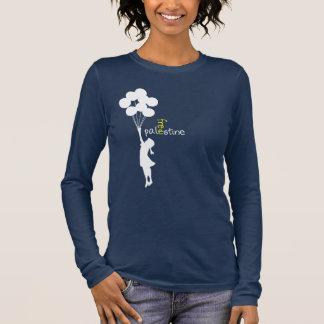 Mädchen mit Ballonen Langarm T-Shirt