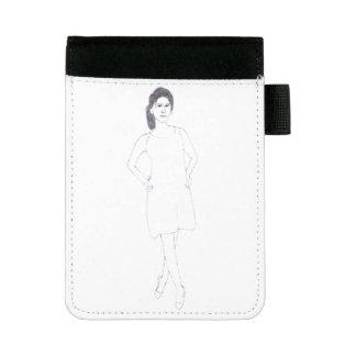 Mädchen mit einfachem Kleidpadfolio Mini Padfolio