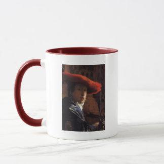 Mädchen mit Red Hat Tasse