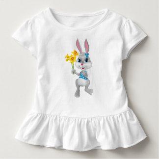 Mädchen-Osterhasen-Kleinkind-Rüsche-Kleid Kleinkind T-shirt