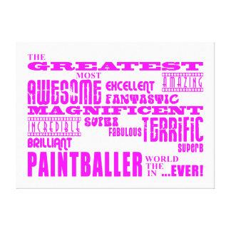 Mädchen Paintballers: Rosa beststes Paintballer Gespannte Galeriedrucke