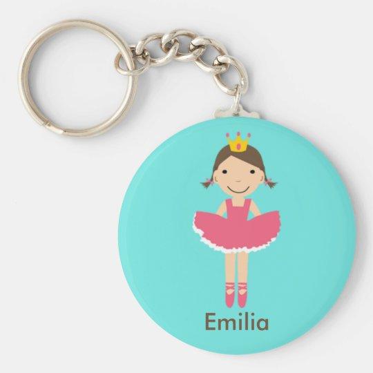 Mädchen Personalzied Ballerina Keychain Schlüsselanhänger