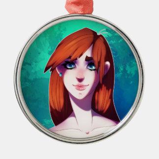 Mädchen-Porträt Silbernes Ornament