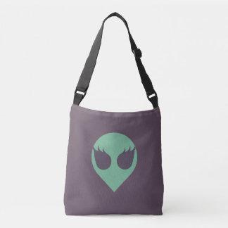 Mädchen-Power-alien-Kopf-Taschen-Tasche mit zurück Tragetaschen Mit Langen Trägern