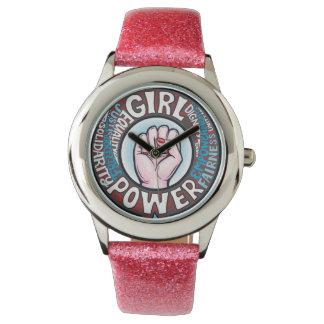 Mädchen-Power-Blumen-Power-Progressist-Aussage Armbanduhr