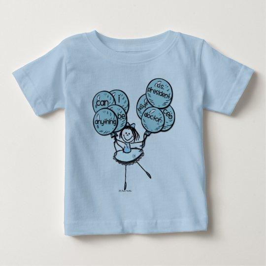 Mädchen-Power - geht Blau! Baby T-shirt