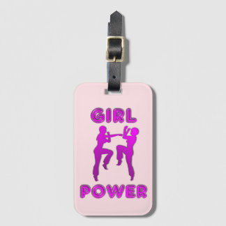 Mädchen-Power-Kriegskunst-Frau-Gepäck-Umbau Kofferanhänger