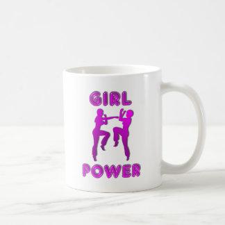 Mädchen-Power-Kriegskunst-Frau-Kaffee-Tasse Tasse