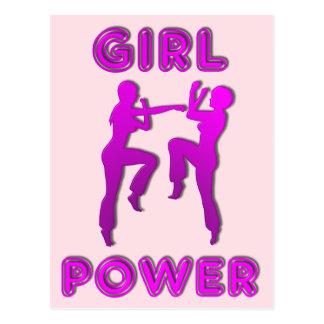 Mädchen-Power-Kriegskünste, die Frau-Postkarte Postkarte