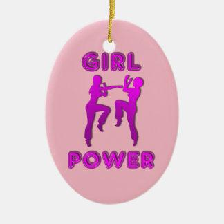 Mädchen-Power-Kriegskünste, die Frau-Verzierung Keramik Ornament