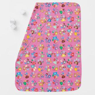 Mädchen-rosa Pastellkatzen-Tatzen-Druck-Baby-Decke Babydecken