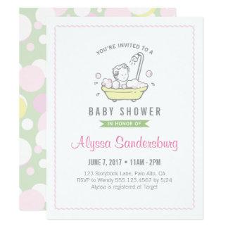 Mu0026#228;dchen Schaumbad Babyparty Einladung Karte