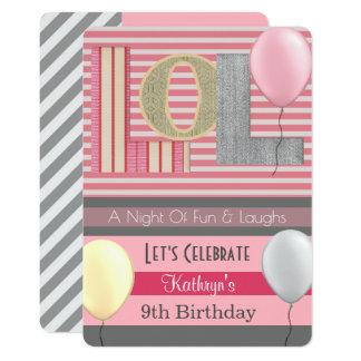 """Mädchen-Schlummer-Party-Geburtstag des Spaß-""""LOL"""" Karte"""