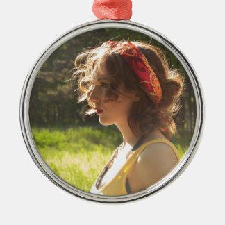 Mädchen Silbernes Ornament