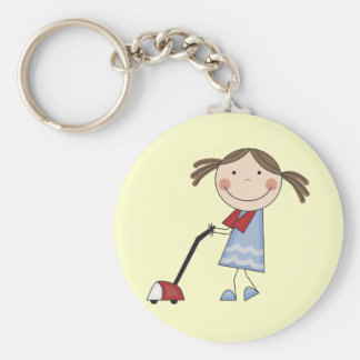 Mädchen-staubsaugende T-Shirts und Geschenke Schlüsselanhänger