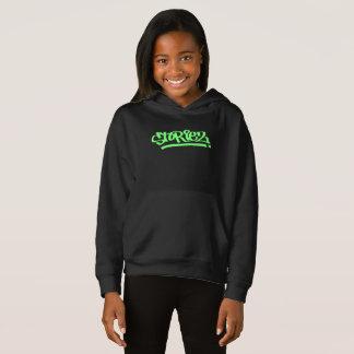 Mädchen Storiez Hoodie (Limones grünes Logo)