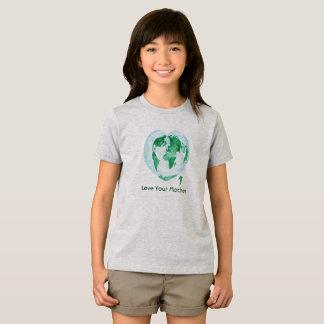 Mädchen-T - Shirt-Liebe Ihre Mutter-Erde T-Shirt
