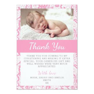 Mädchen-Taufe danken Ihnen zu kardieren Karte