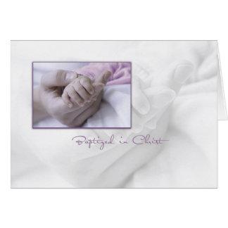 Mädchen-Taufe-Glückwunsch-Karte für Baby Grußkarte