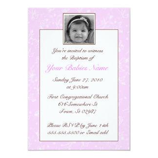 Mädchen-Taufe/Taufe 12,7 X 17,8 Cm Einladungskarte