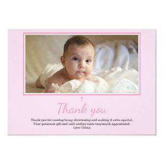 Mädchen-Taufe/Taufe danken Ihnen zu kardieren Karte