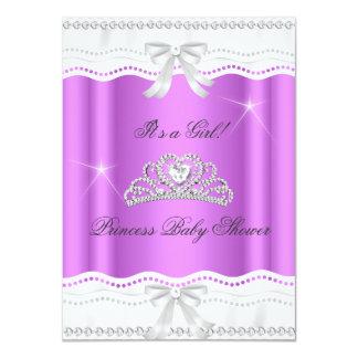 Mädchen-Tiara-Spitze Prinzessin-Babyparty 11,4 X 15,9 Cm Einladungskarte