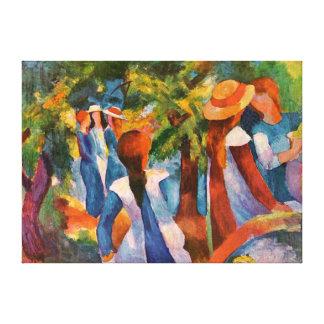 Mädchen unter dem Baum-August Macke Leinwanddruck