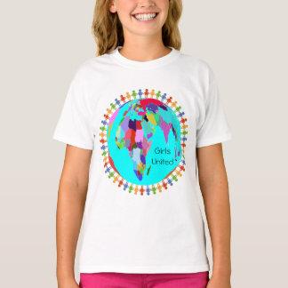 Mädchen vereinigter Entwurf 1 T-Shirt