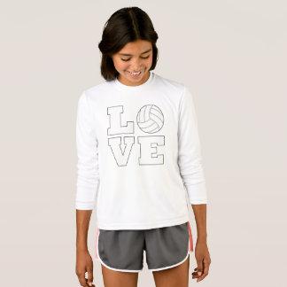 Mädchen-Volleyball-Liebe-niedlicher T - Shirt