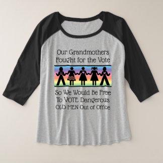Mädchen wählen große größe raglan T-Shirt