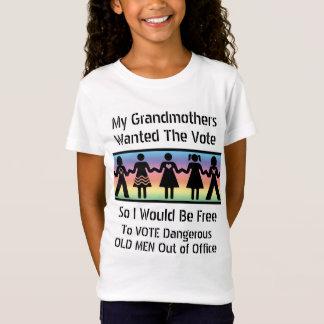 Mädchen wählen T-Shirt