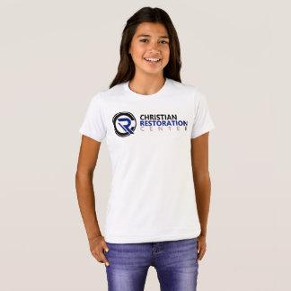 Mädchen weißes Blockprüfungs-T-Shirt T-Shirt