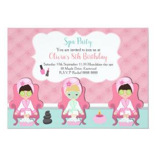 Mädchen Wellness Center , Deneinladung Party Einladung