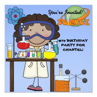 Mädchen-Wissenschafts-Geburtstags-Party Einladung